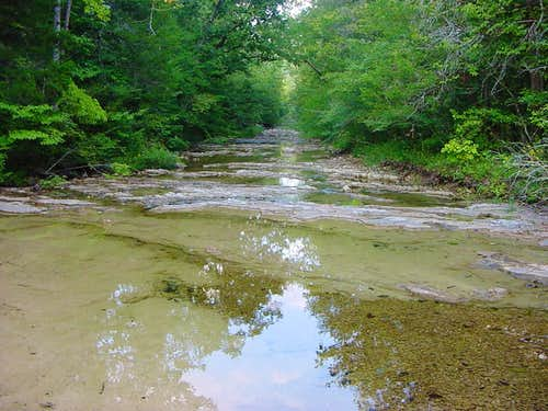 Indian Creek on the Ozark Trail