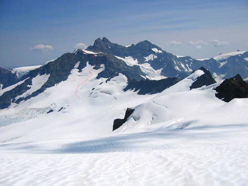 west face of Mt Olympus