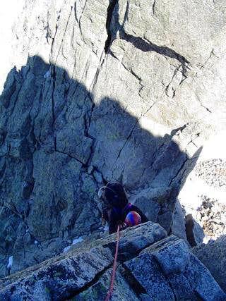One pitch IV+ on Salenques ridge