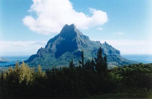 The spectacular Mount Rotui...