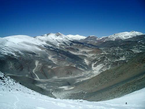 El Muerto's glaciers