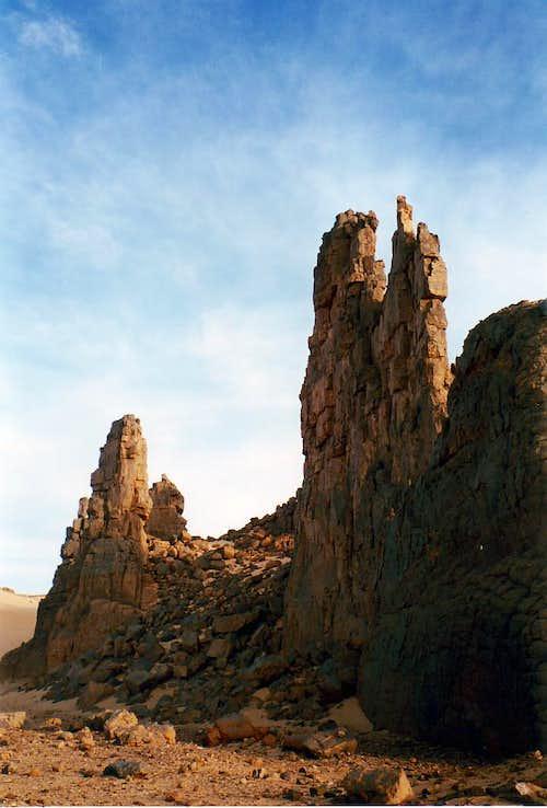Saharan mountains