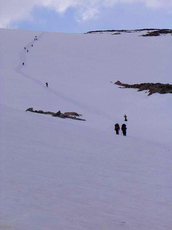 Descending to Goat Flat