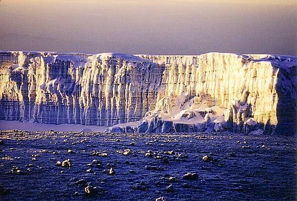Sunbathing summit glacier on...