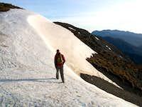 Heading North East from Mount fyffe alnong summit ridge