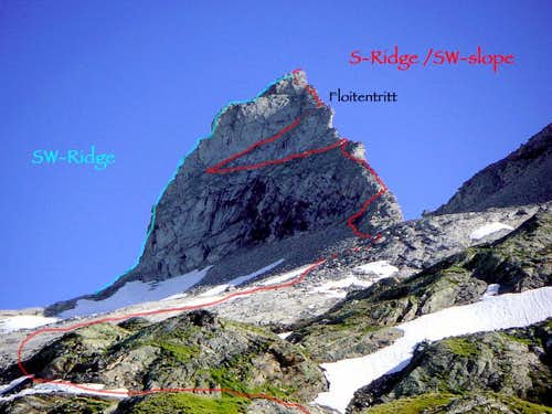 Normal ascent (S-Ridge / SW-face)