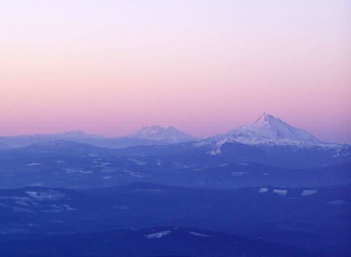 Mount Jefferson, Three Sisters, Brokentop