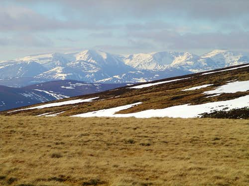The distant Cairngorms