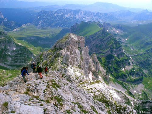 Aerial view of Durmitor splendor