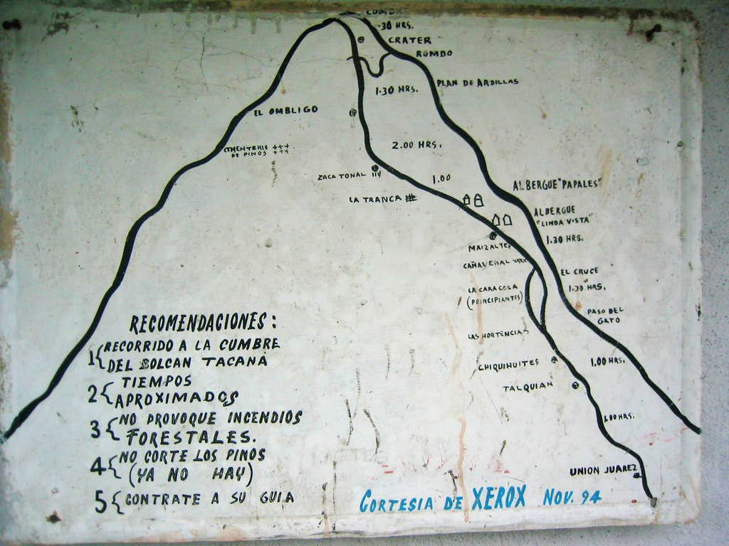 Locally Available Trail Map