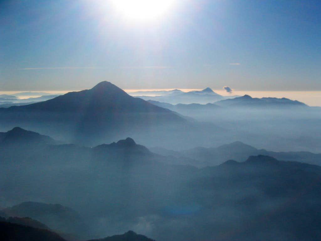 Looking Back Towards the Tajamulco and Guatemala