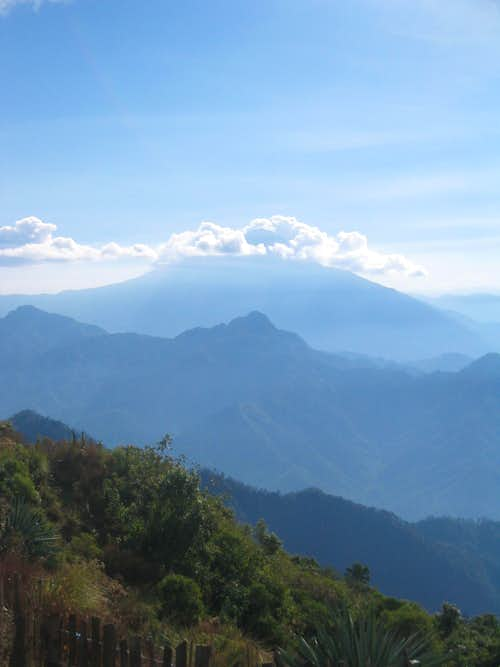 Volcan Tajumulco, from the Tacana