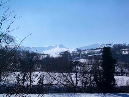 Route from Brecon town
