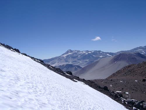 Climbing the second snowfield