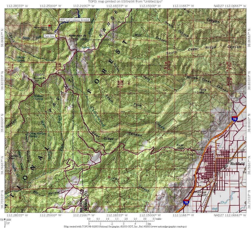 Mine Camp Peak area