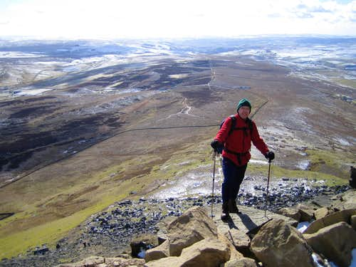 Near the top of Pen Y Ghent