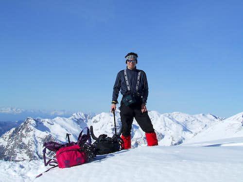 I on summit of