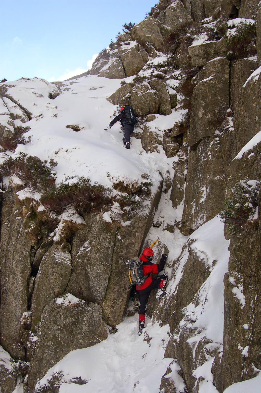 Tryfan's North Ridge in Winter