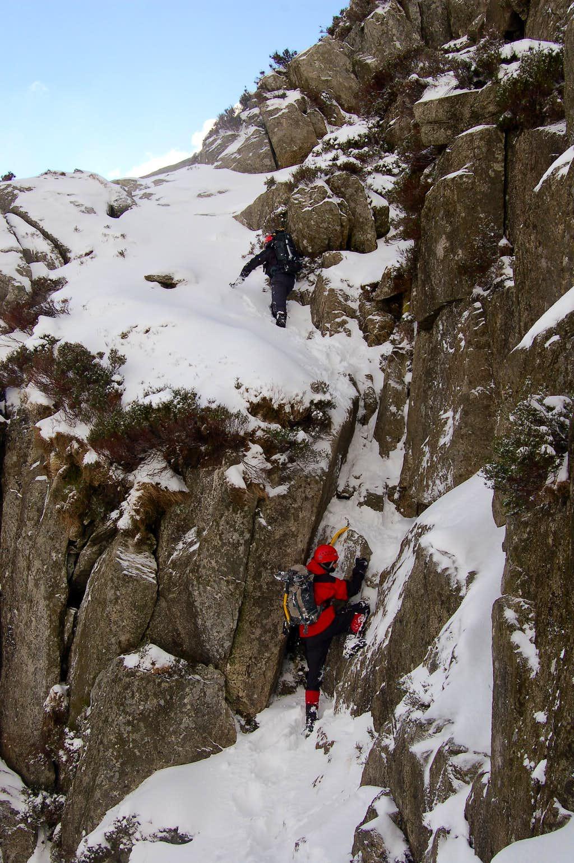 Tryfan's North Ridge in Winter