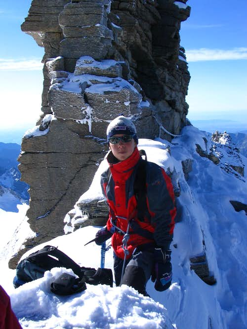 Me just below the top of Gran Paradiso.7/2005