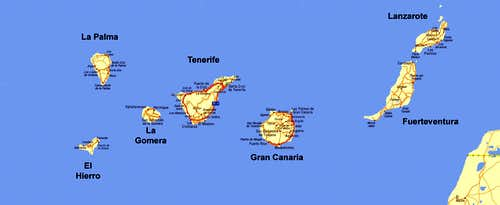 Overview Map of the Islas Canarias