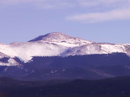 Pikes Peak from the west