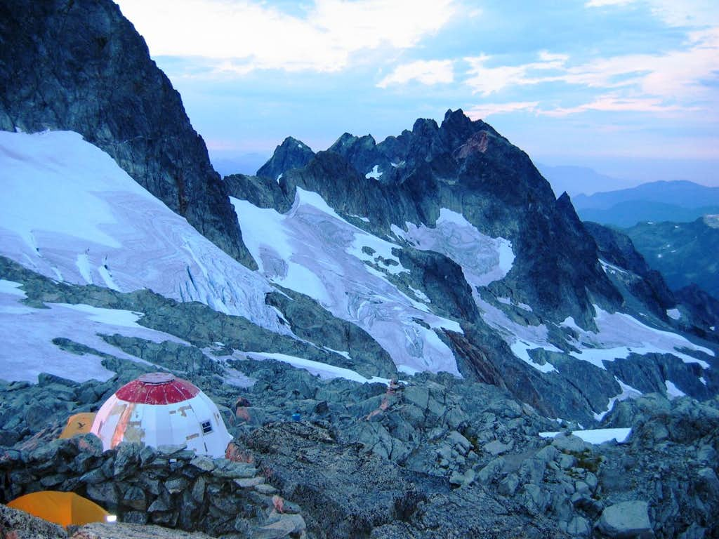 Camping on the Red Tit Col