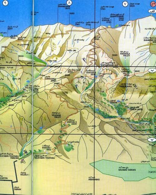 Schematic map of Tochal from...