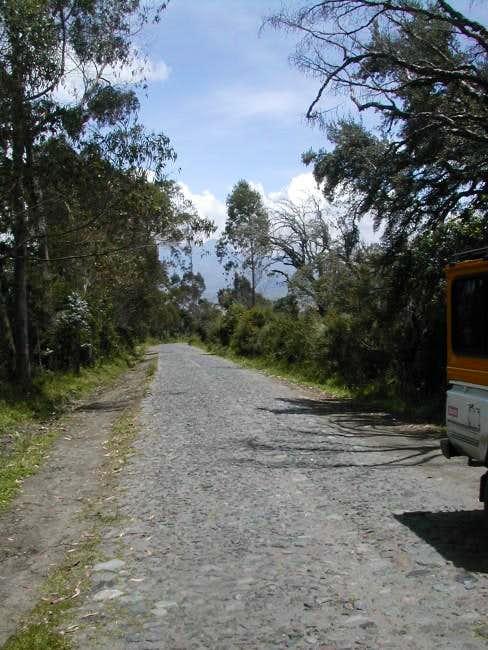 The road to Illiniza turns...
