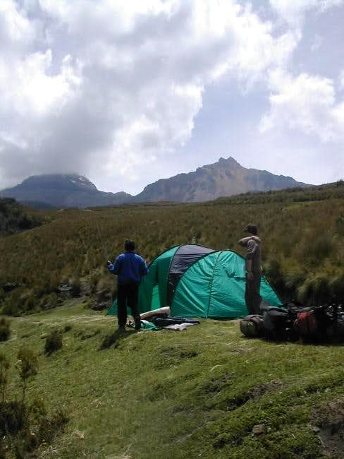 Camp-site with a view of Sur...