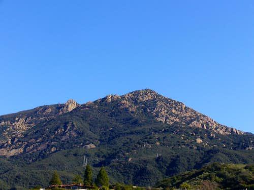 Cathedral Peak and Dragon's Back Ridge