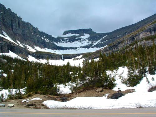 Pollock Mountain from the Going to the Sun Road.