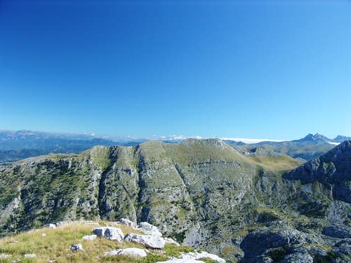 Treskavac from south, from Sila mt.