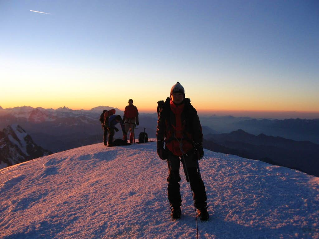 Me on the summit of Monte Bianco(4810m)...7/2005