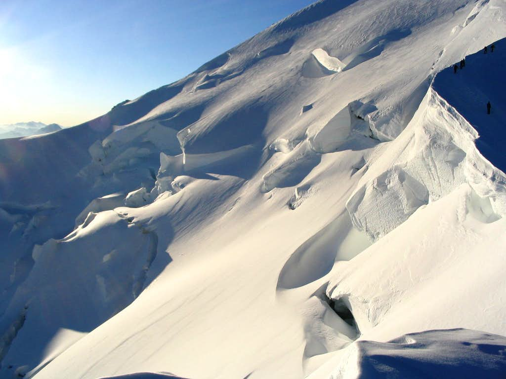 People on glacier under Monte Bianco.7/2005