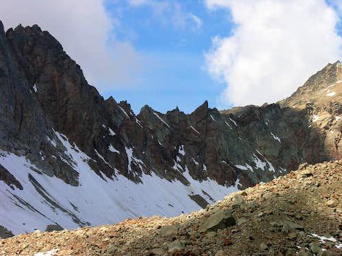 SE crest from Monte Grauson to Punta Garin