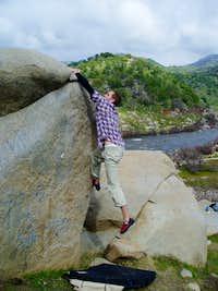 Brian B on Rays Boulder