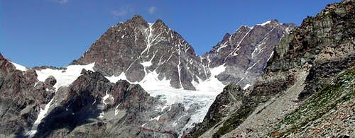 Piz Roseg and Monte Scerscen S walls