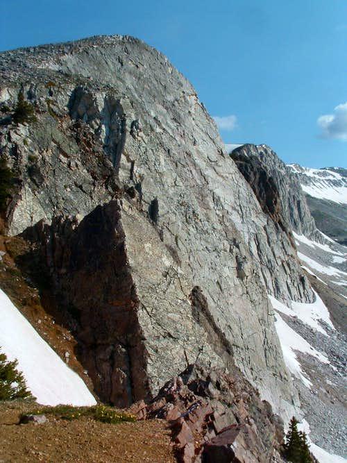 Medicine Bow's cliffs
