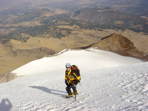 Descending the Jamapa Glacier