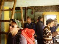 Climbers at the Refugio