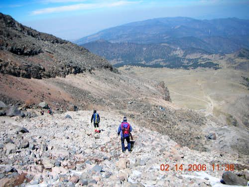 Final descent to the Refugio