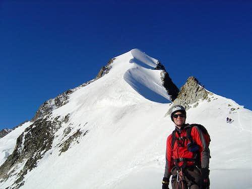 On the Biancograt from Piz Bernina 4049m