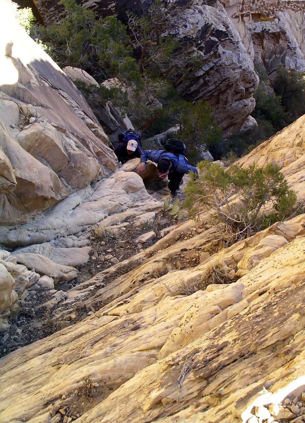 Final climb before exposed walk