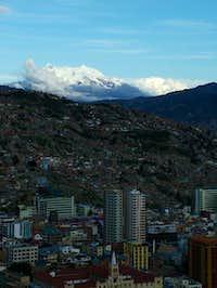 Illimani from the La Paz Mirador