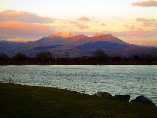 Moelwyn's Range from Porthmadog