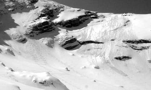 Ski downhill from Hocheck