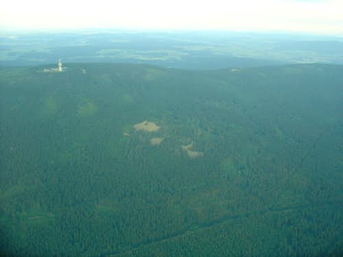 view of Schneeberg from a plane
