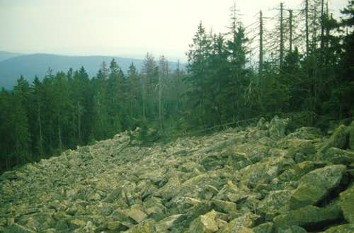 A slope of granite rocks