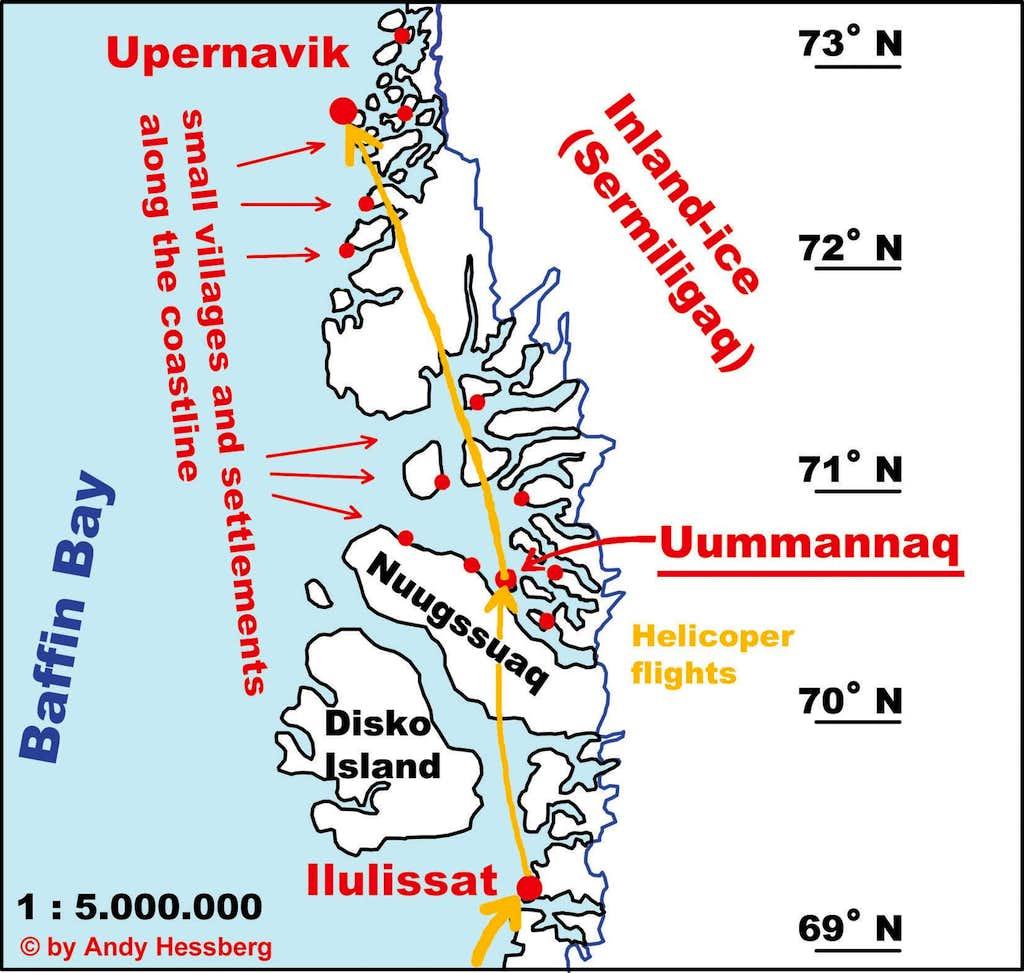 Map of Uummannaq area